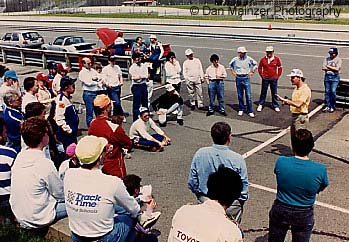 Dellis Teaching at TrackTime Driving Schools