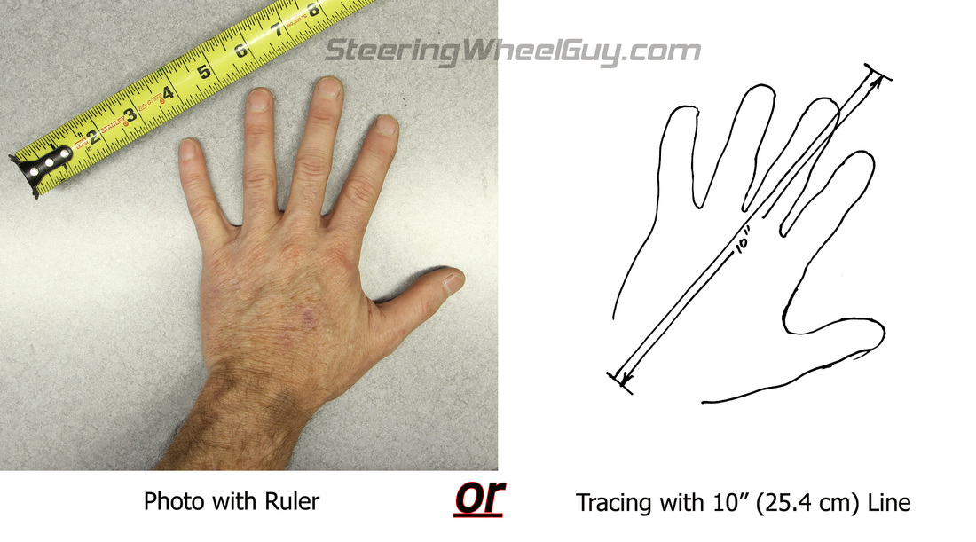 Steering Wheel Guy Hand Size Guage